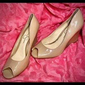 Vintage Jessica Simpson Open-toe Wedge Heels